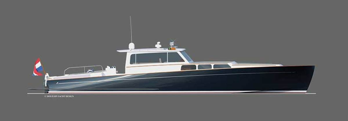 Zurn's rendering of a 62-foot Lynx commuter yacht