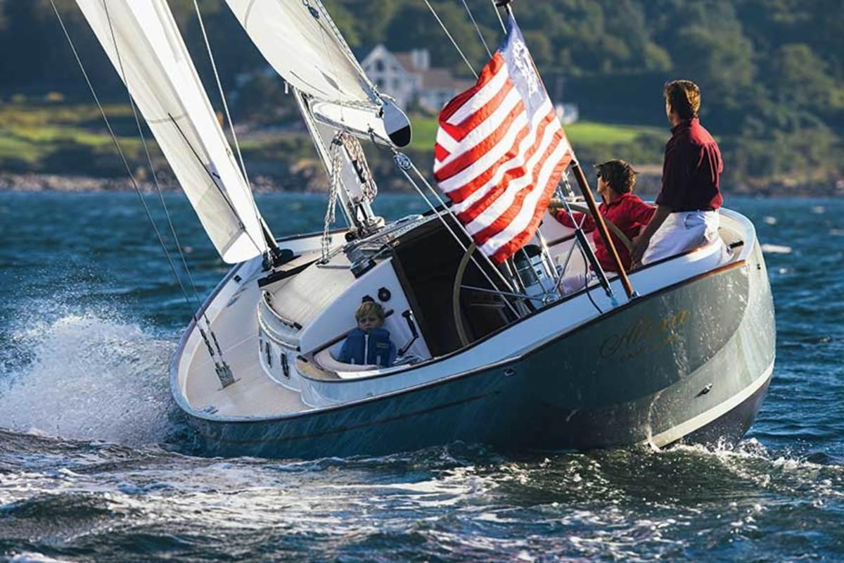 The Bruckmann 42, one of Zurn's favorite sailboat designs.