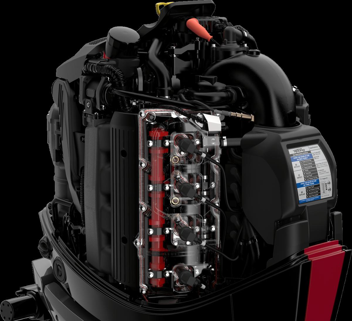 The 450R is based on Mercury Marine's 4.8-liter V-8 powerhead.