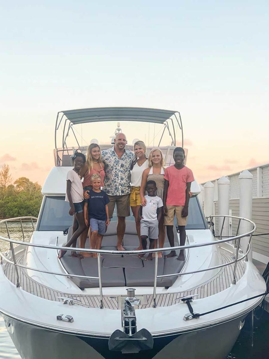 The Stewart family on a recent trip in Florida.
