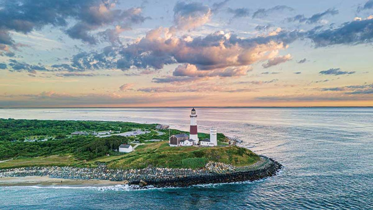 Montauk Point Lighthouse is a National Historic Landmark built in 1796.