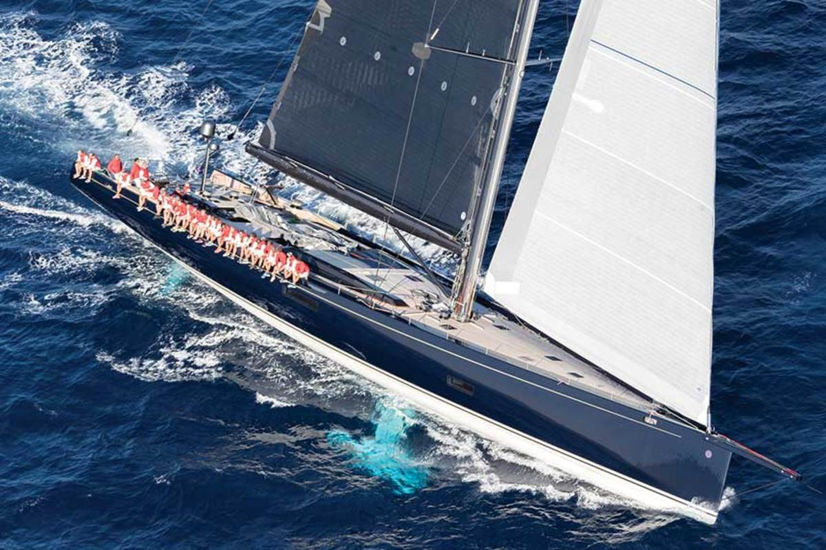 The 130-foot Batltic sailing yacht My Song fell off a transport ship in May.