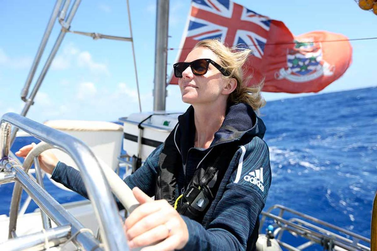 Emily Penn is co-founder of eXXpedition, which organizes female sailing trips to educate about ocean plastics. A round-the-world voyage begins this month.