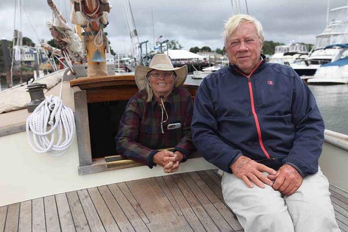 Owners Ginny and Jim Lobdell have kept Malabar II in tip-top condition for 42 years.