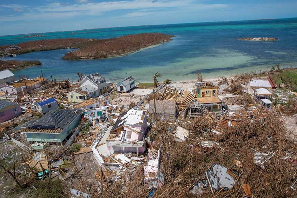 Dorian destroyed up to 90 percent of the infrastructure on the Abacos.