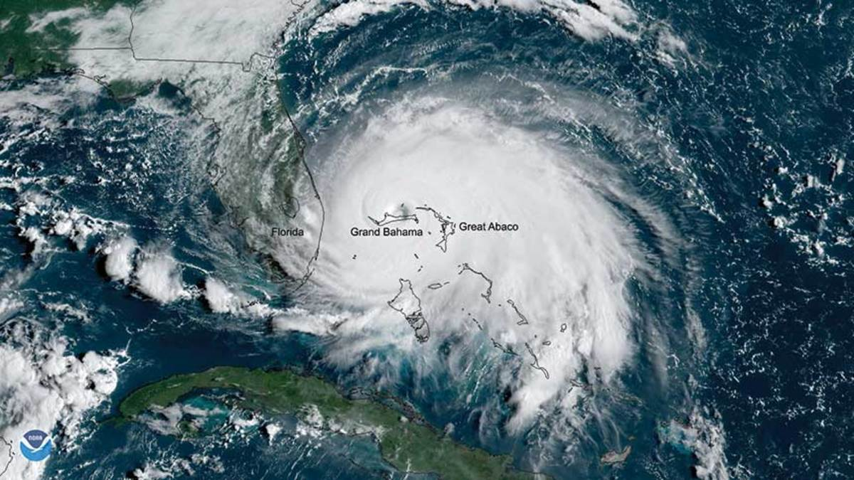 Dorian, shown here at peak  intensity, is one of 35 hurricanes to achieve Category 5 strength in 169 years.