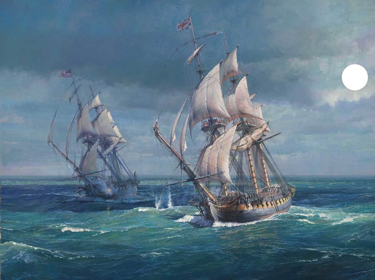06.-Opening-shots,-USS-Constitution-vs-HMS-Guerierre_1800