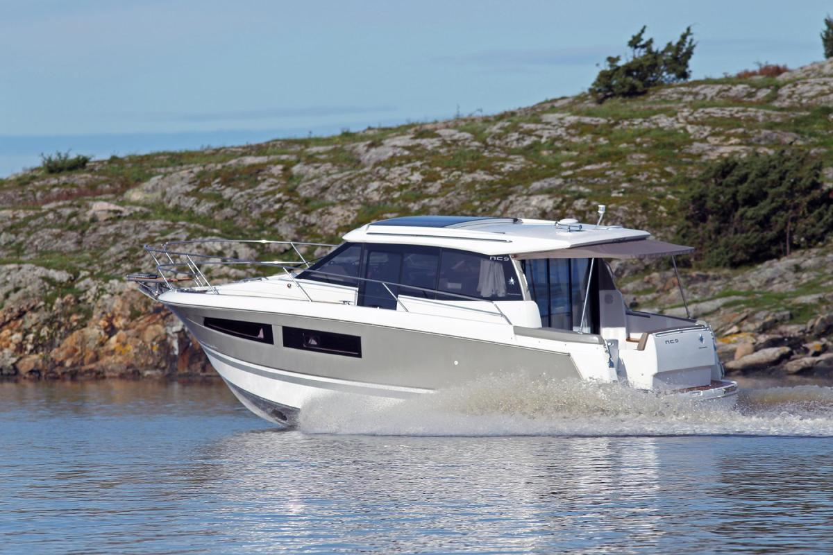The SUV-like Jeanneau NC 9 has loads of useful, utilitarian features that make it friendly to many different types of boaters.