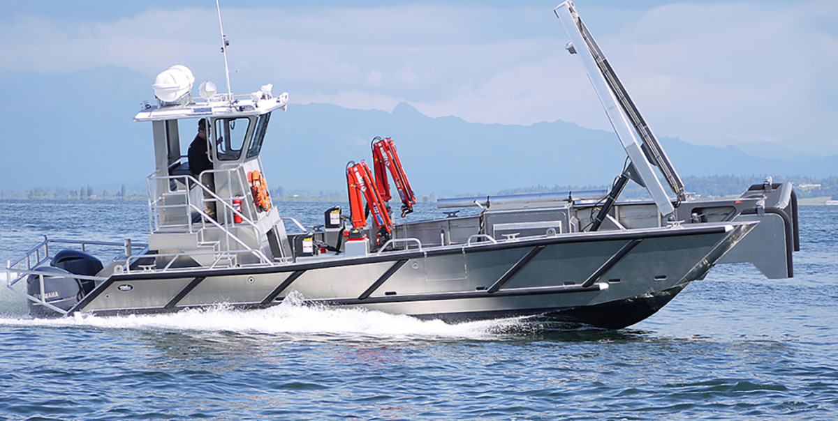 Commercial companies love aluminum boats for their ability to withstand punishment every time they are put to work.