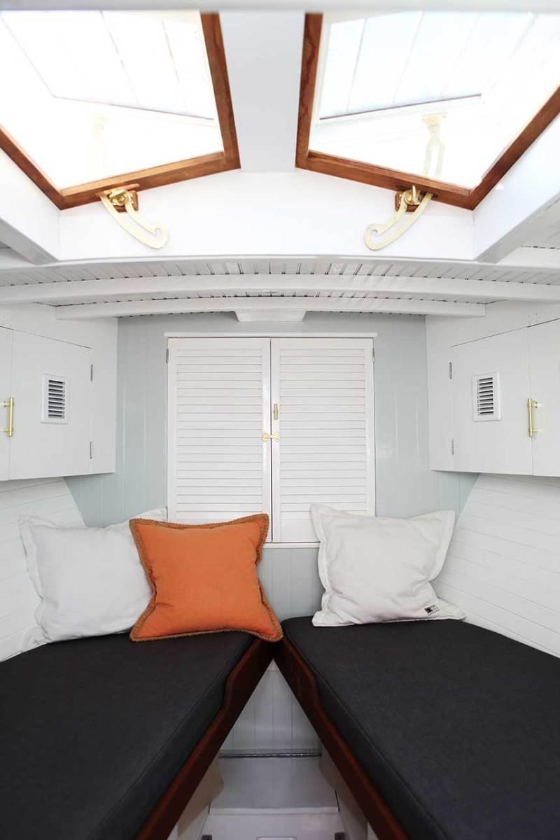 The forward cabin