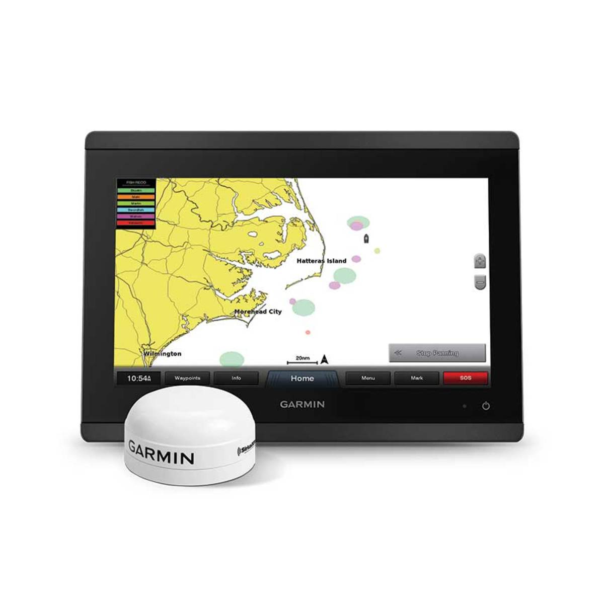 SiriusXM Marine's Fish Mapping Service works on select Garmin chartplotters.