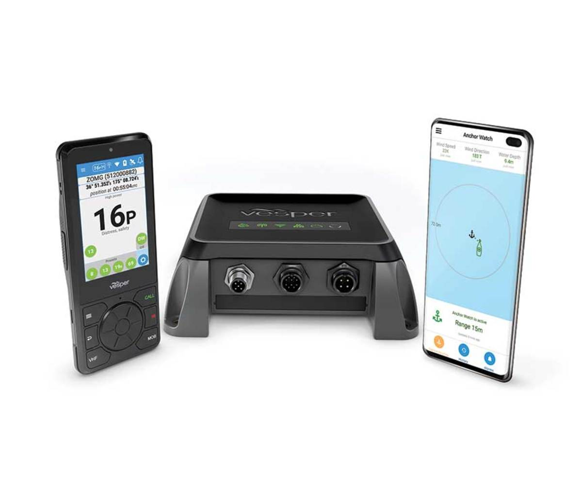 The Vesper Cortex system consists of a base unit, handset and a mobile app.
