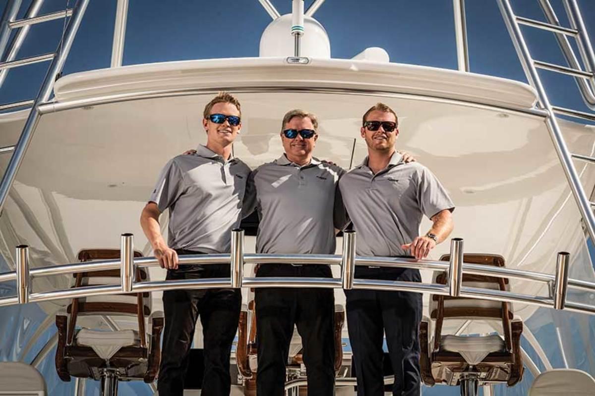 Justin, Pat and Sean Healey.