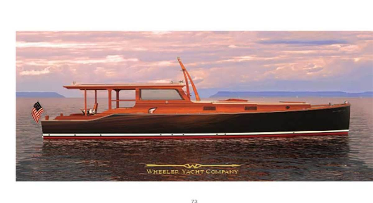 A modern interpretation of Hemingway's Pilar is underway at Brooklin Boat Yard.