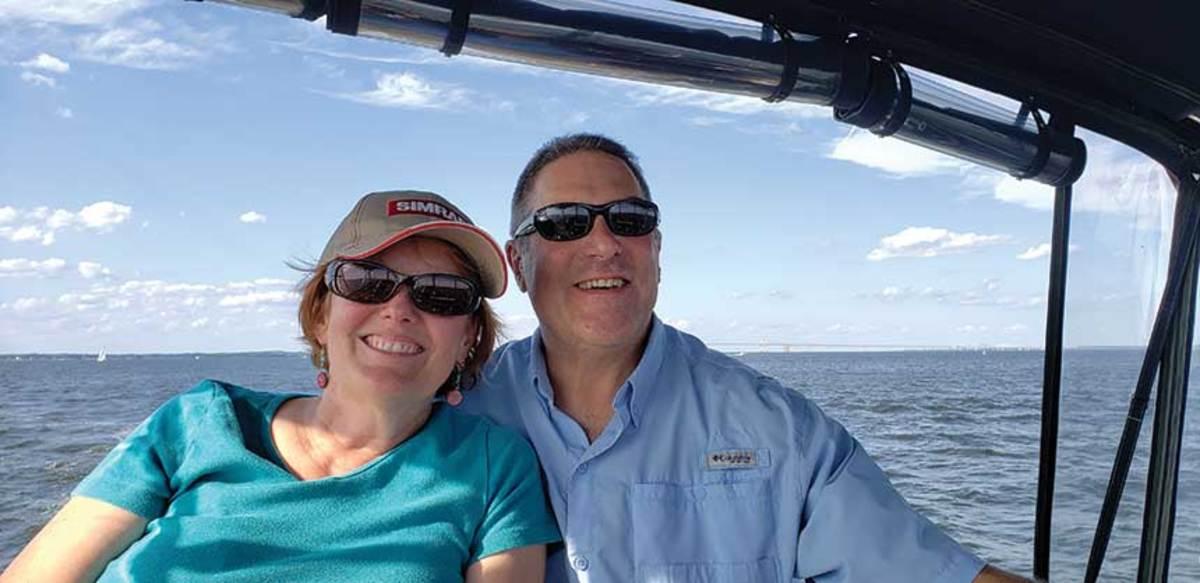 Lisa O'Hara and Wayne Burstein cruise out of Rock Hall, Maryland.