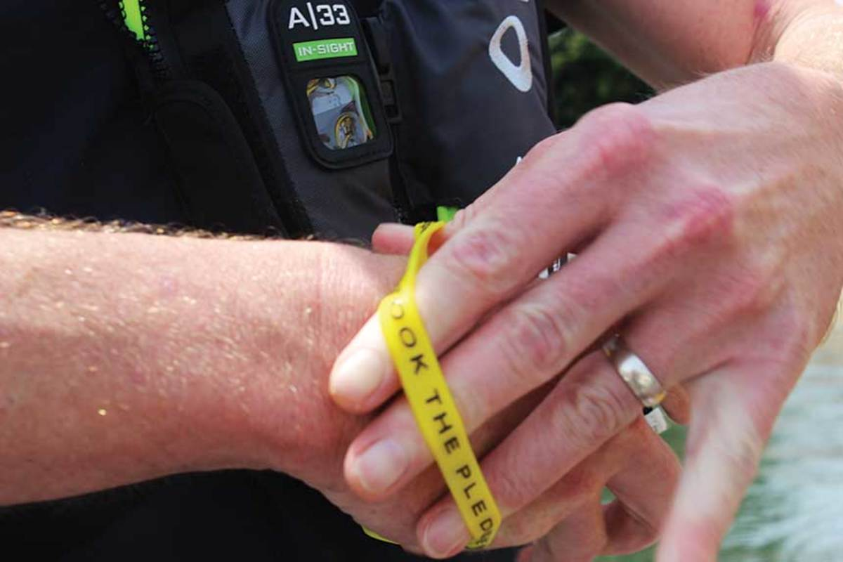 Boaters are encouraged to request free bracelets from the Sea Tow  Foundation.