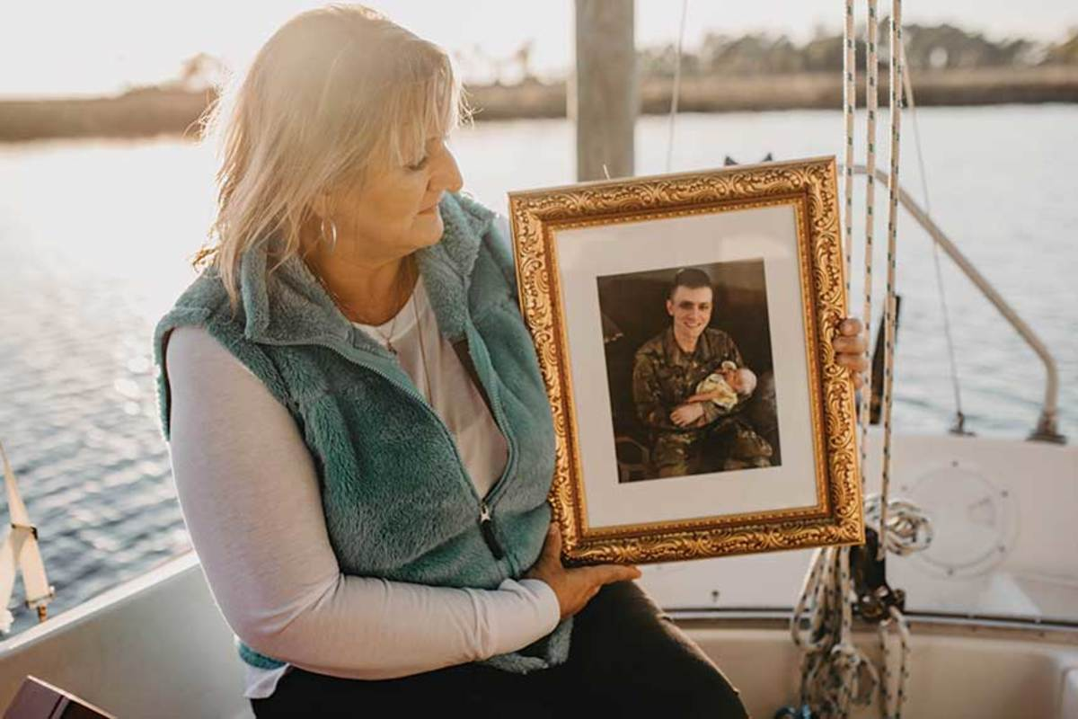 Her son Kyle, who was 24 when he died.