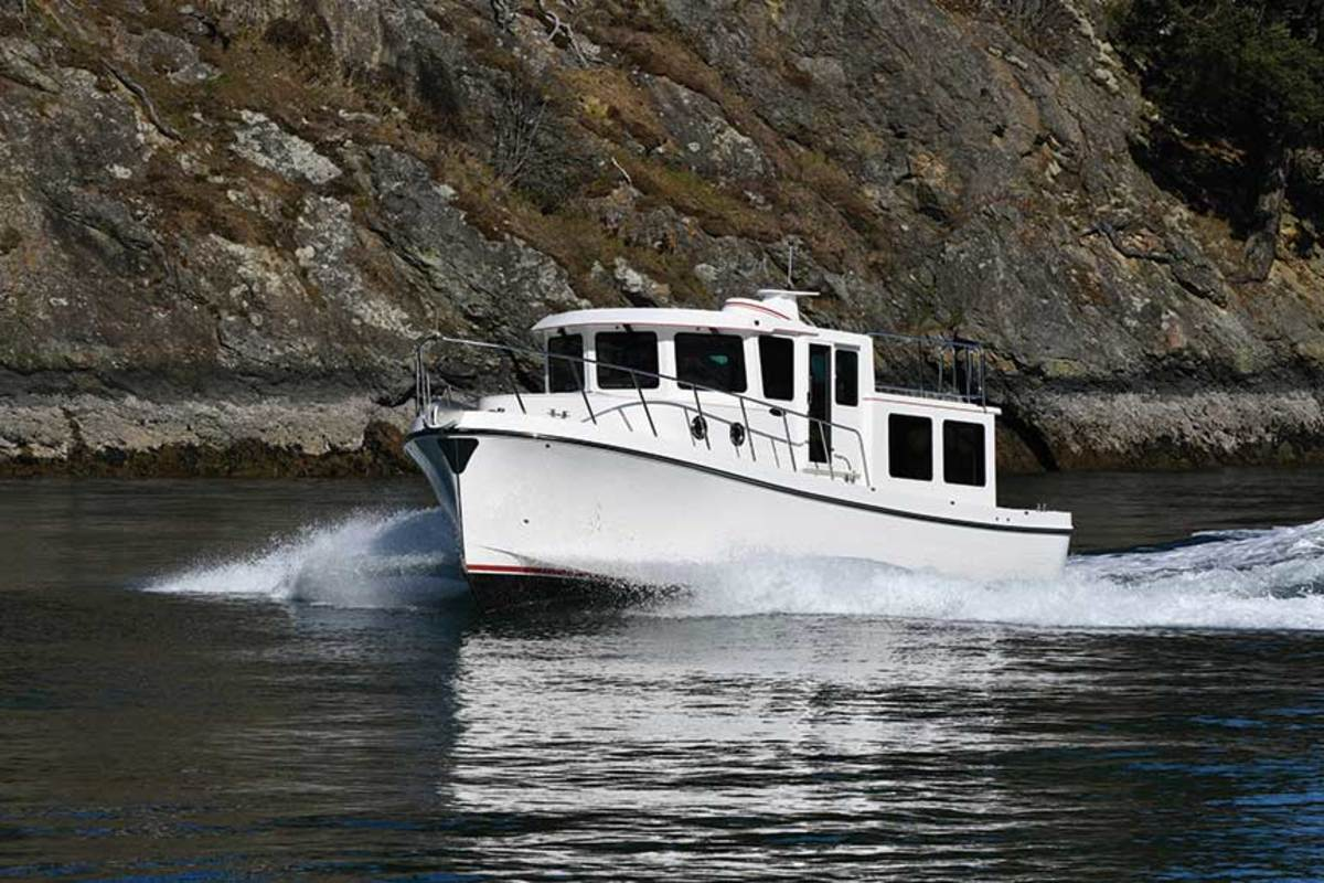 The American Tug Waypoint 36 is the new entry-level boat for the builder.