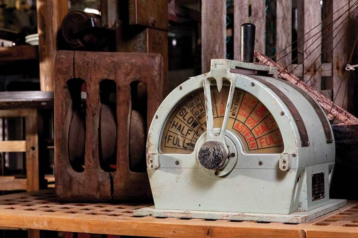 An engine order telegraph