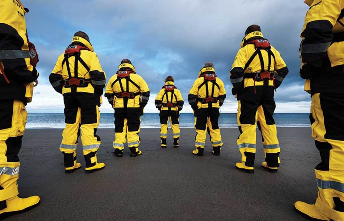 """The RNLI mostly consists of volunteers who regularly practice in all kinds of conditions so they can answer a """"shout."""""""