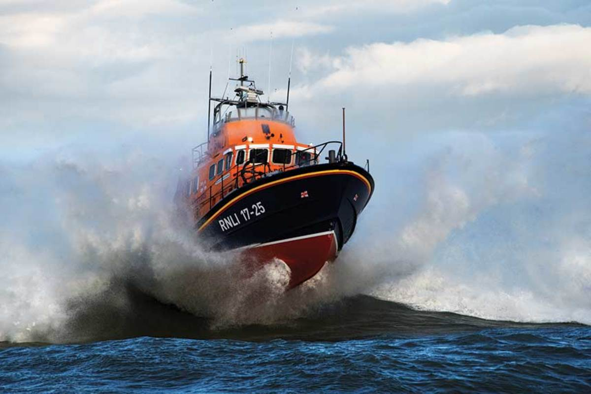 At 56 feet, 9 inches, the  Severn class of boats are the RNLI's largest, capable of making their way through the snottiest weather.