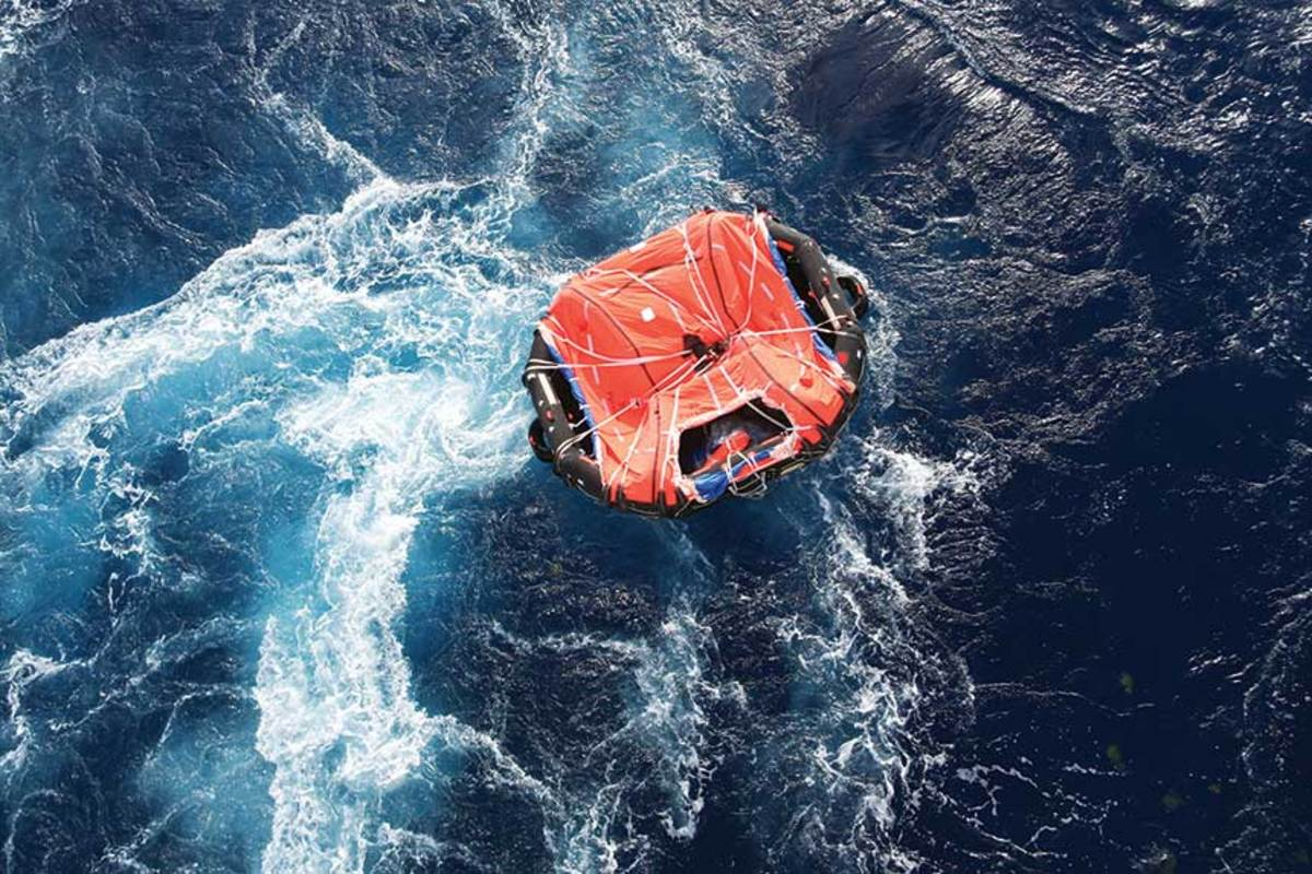 There are training courses out there that will teach you how to use a life raft. Take one, before you need the raft.