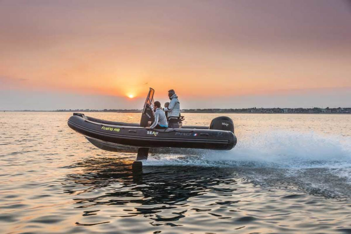 SEAir from Zodiac is a foiling semi-rigid inflatable.