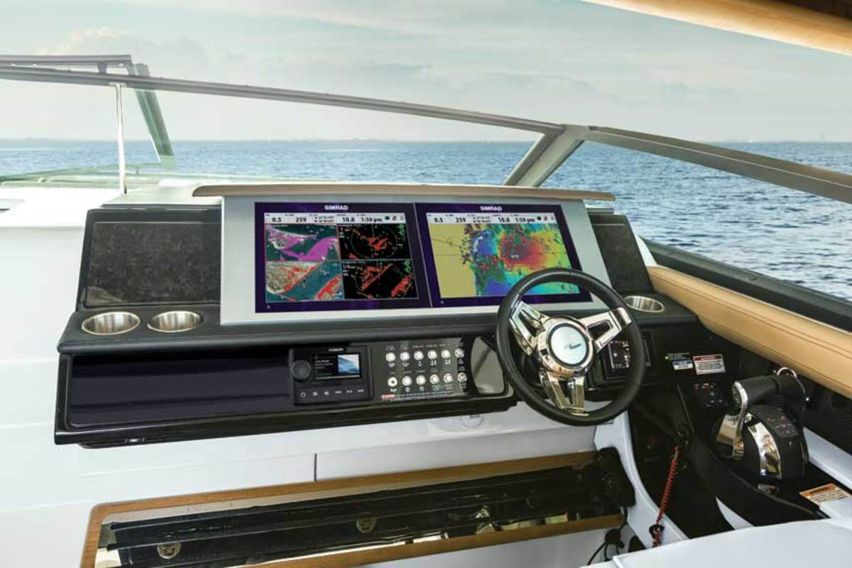 Sea Ray is one builder offering total control at the helm with multifunction displays.