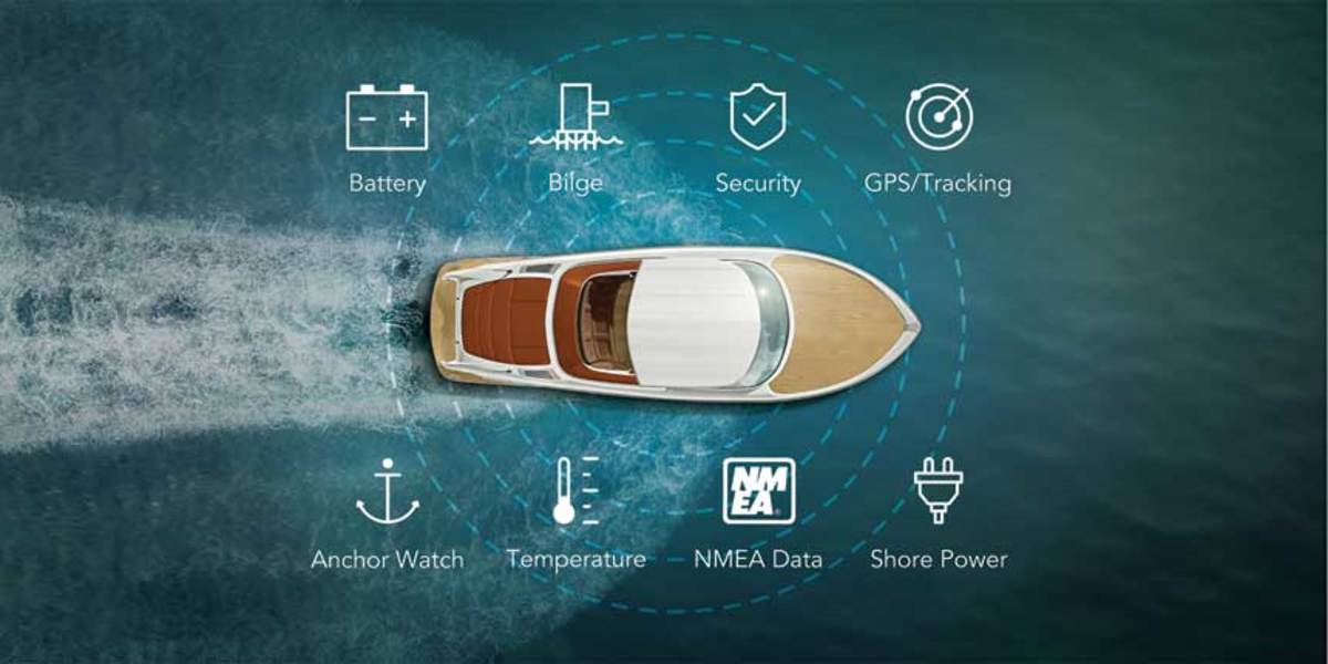 Siren's MTC enables an owner to check on the status of his boat's systems via a smartphone app.