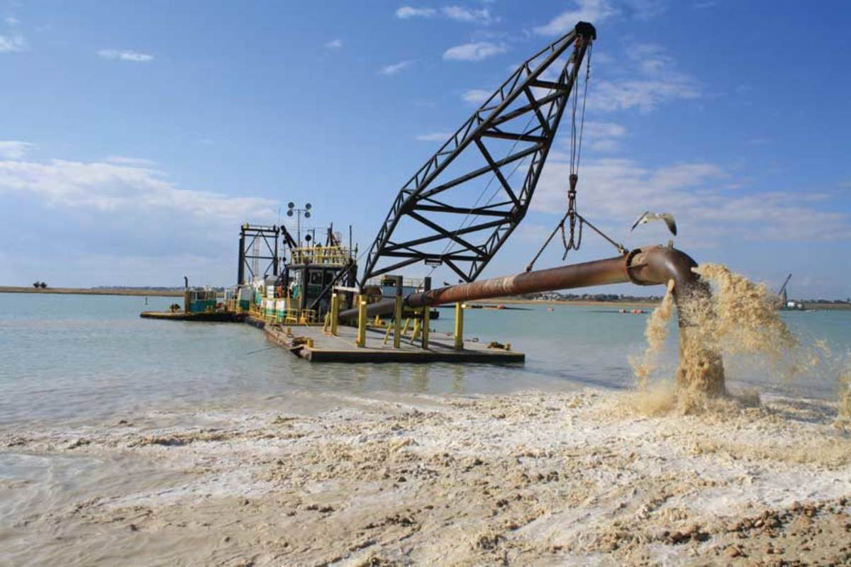 The law provides for dredging to keep channels clear for cargo ships.