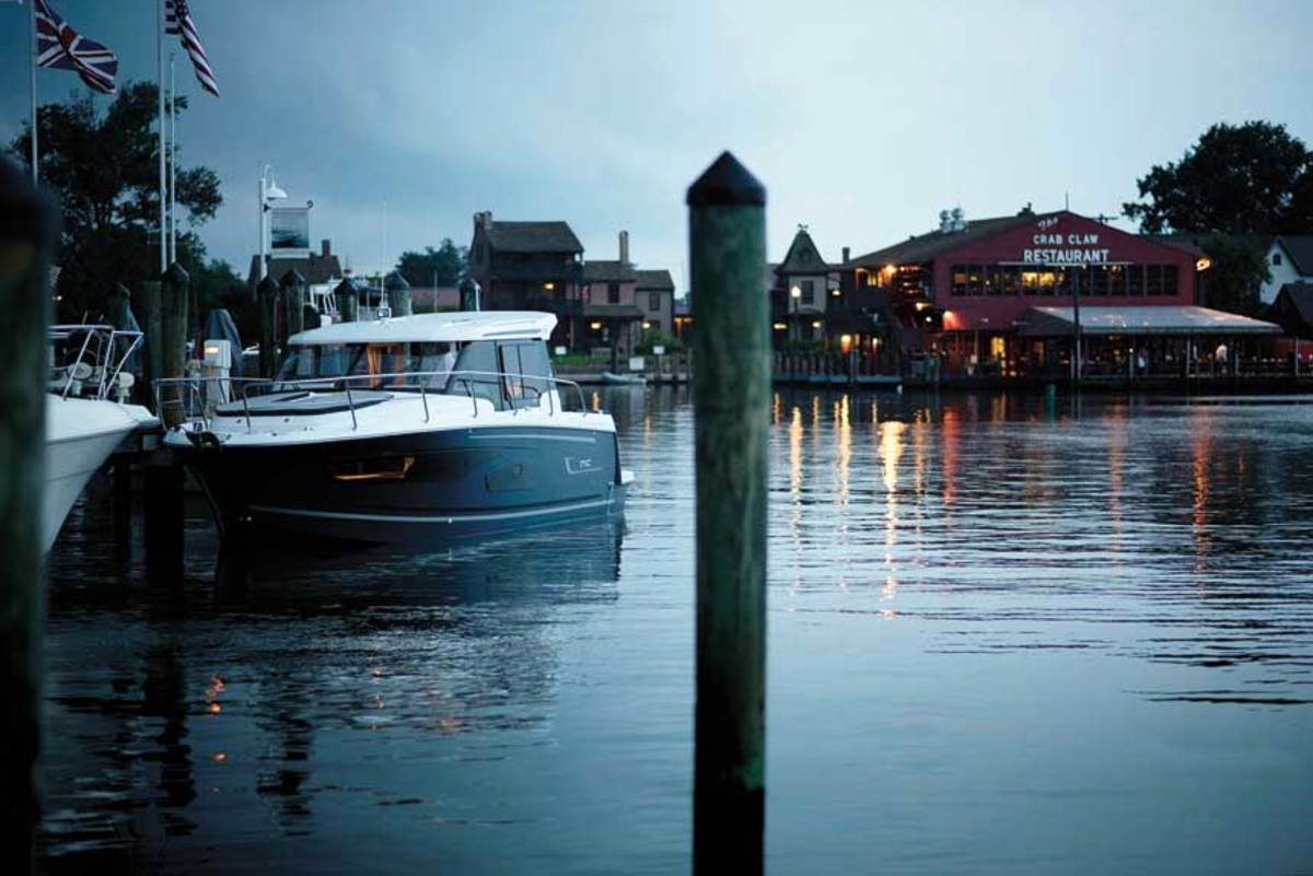 Dock and dine at The Crab Claw in St. Michaels, Maryland.