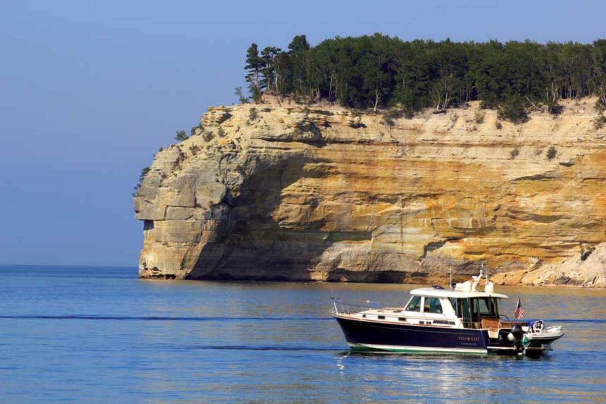True East in Lake Superior at Michigan's Pictured Rocks National Lakeshore Park.