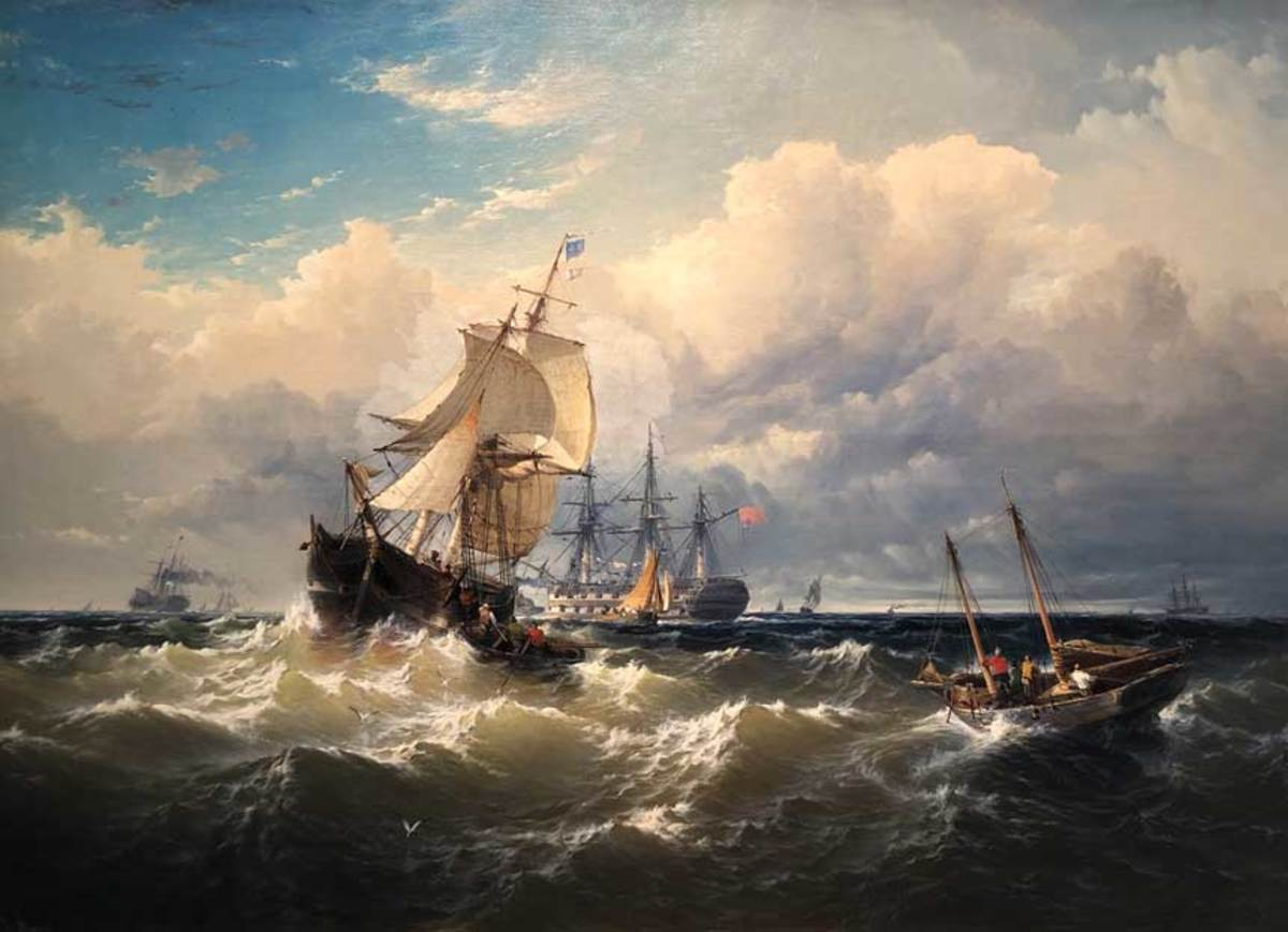 Oil Painting by Edward Moran