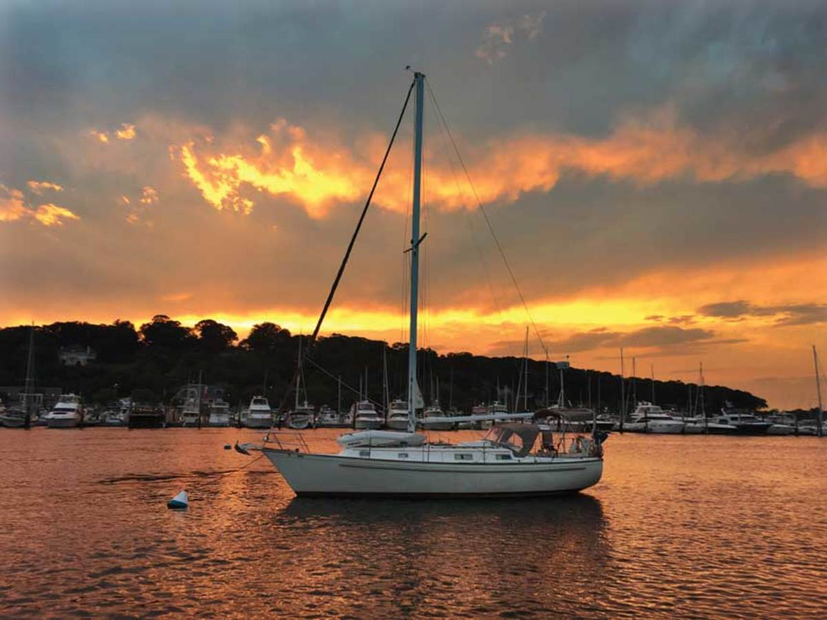 When a retired couple decided to live aboard, they chose the Pearson as their new home.
