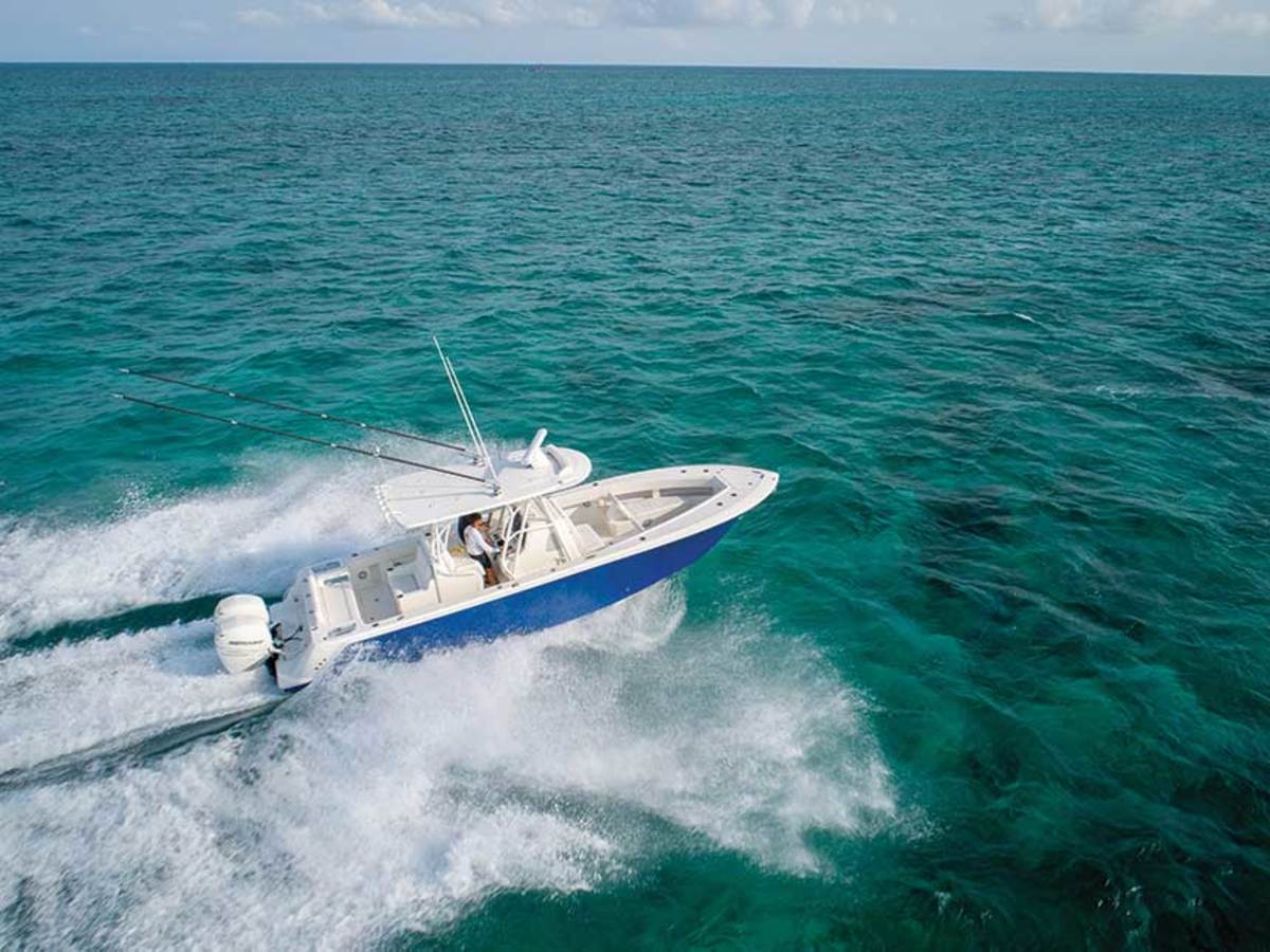 A deep-V, twin-step hull with a 22-degree transom deadrise gives the SeaVee a sweet ride.