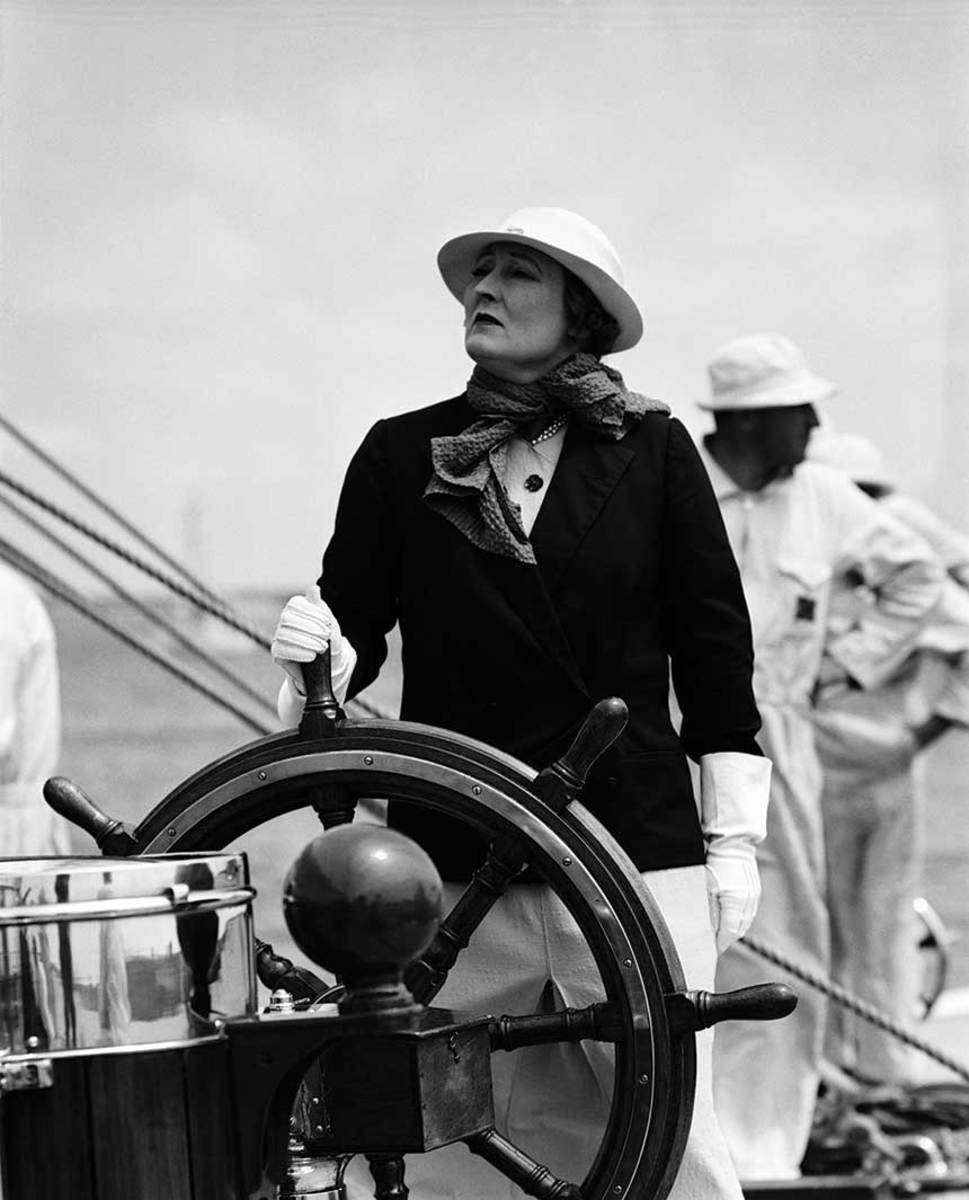 Mrs. Phyllis Sopwith is one of two women who raced in the 1937 America's Cup.
