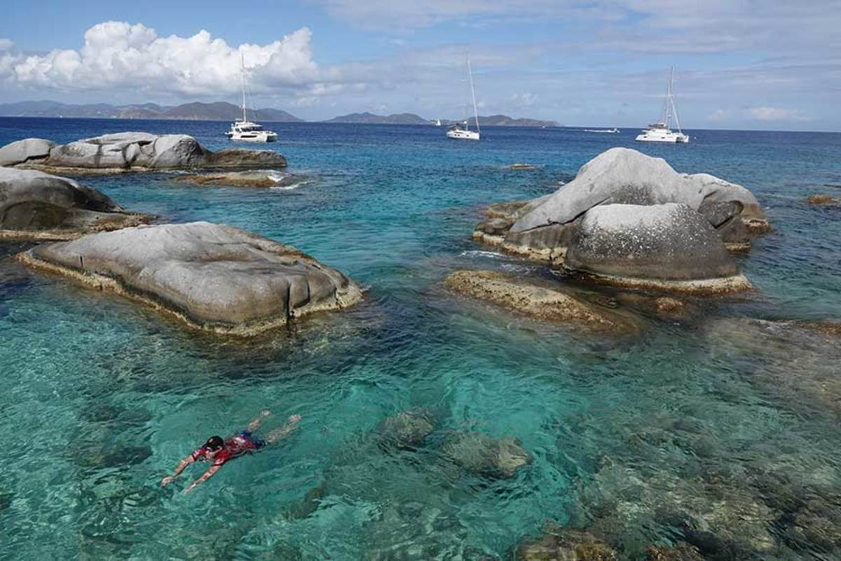 When sailing the British Virgin Islands, a dip at the Baths is not to be missed.