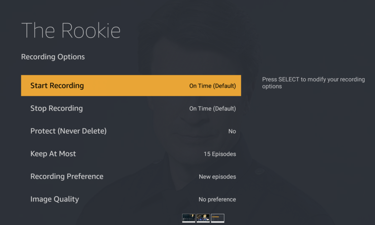 The Fire TV Recast interface.