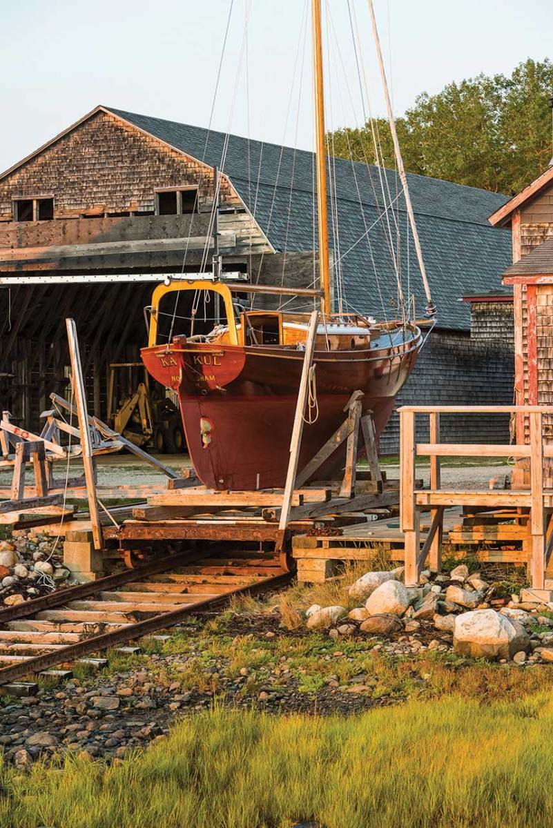 Benjamin River Marine is just one of the builders that gives Brooklin its international reputation for boatbuilding.
