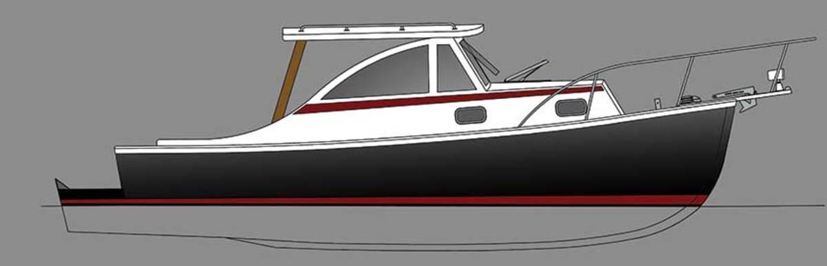 "LOA : 29'8"" / Displ.: 5,000 lbs. / Power: (1) Suzuki DF250 4-stroke"