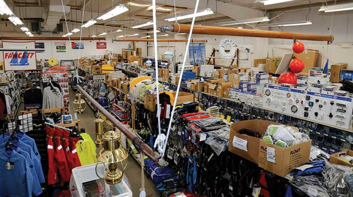Endless aisles of marine hardware