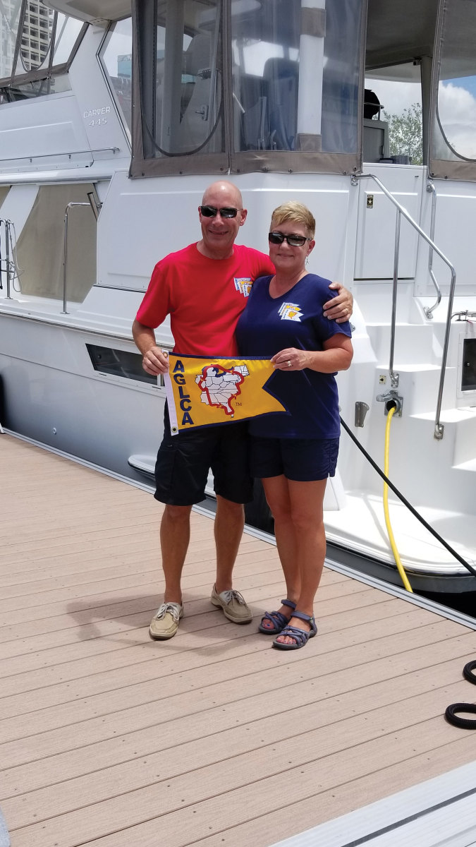 Ben and Chantale Hagar have lived aboard their Carver 445 for two years. They bought the motoryacht to do the Great Loop.