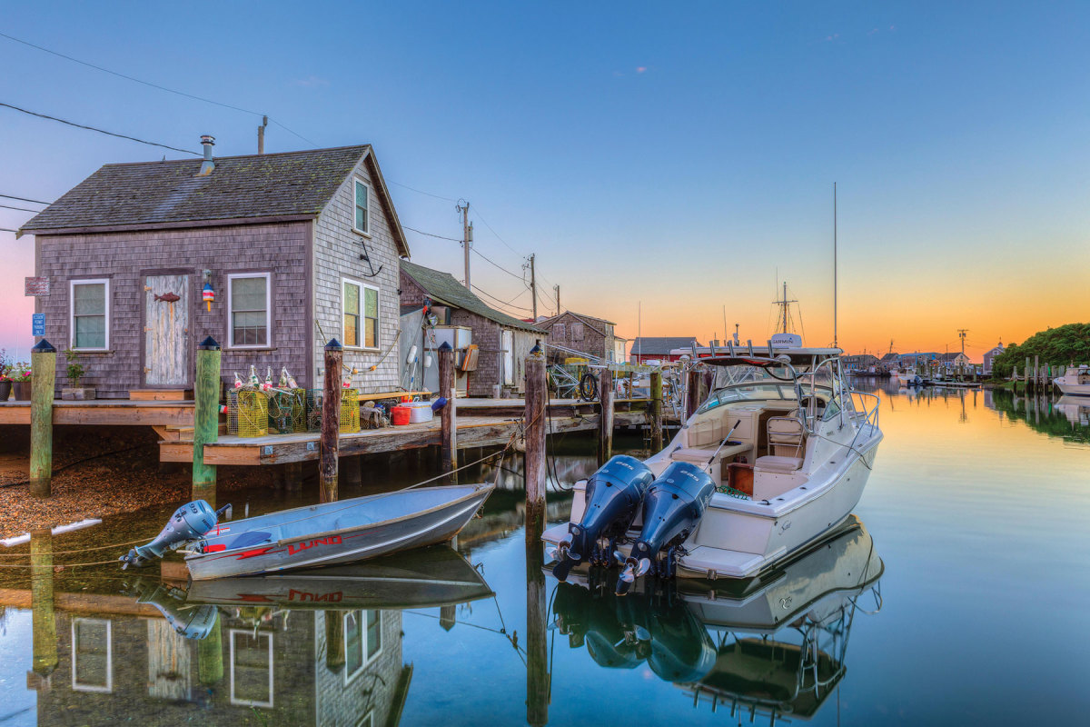 Near the western tip of Martha's Vineyard, Menemsha is all about stunning sunsets, easygoing people and seafood.