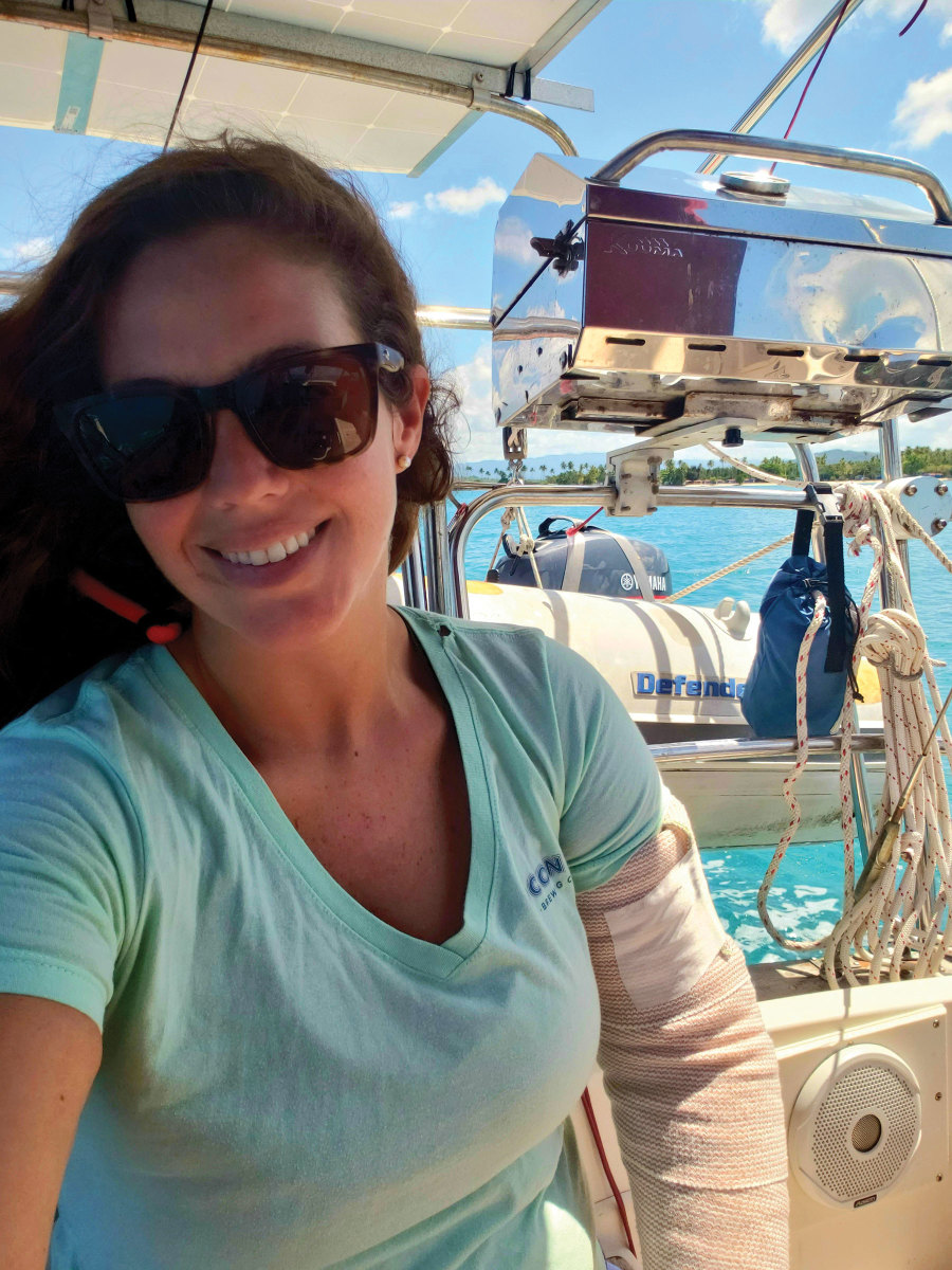 Emilie and Tommy Cook had modest cruising experience when they found themselves stuck in the Caribbean aboard their Island Packet 31, Little Martha.