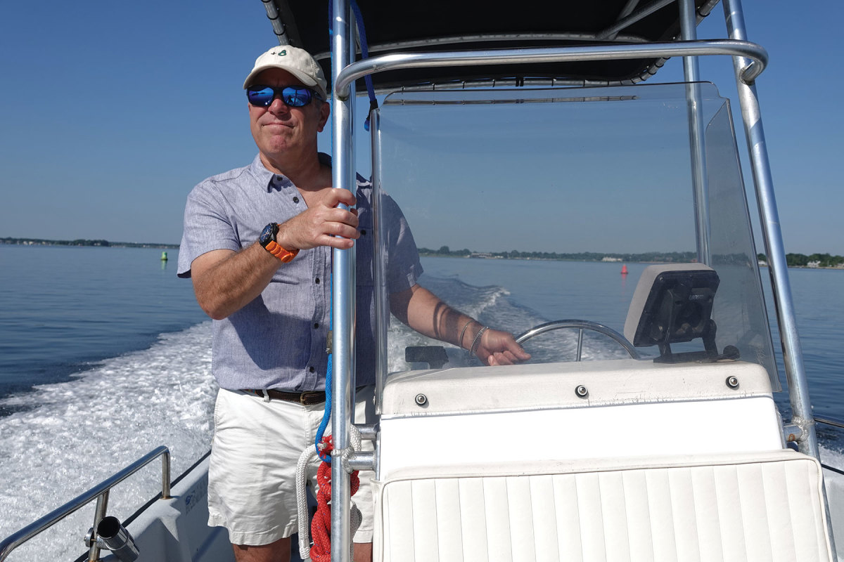 Scott Arnette goes slow with company on board, but when he's cruising his Maritime Skiff on his own, he can squeeze more than 26 knots out of her.
