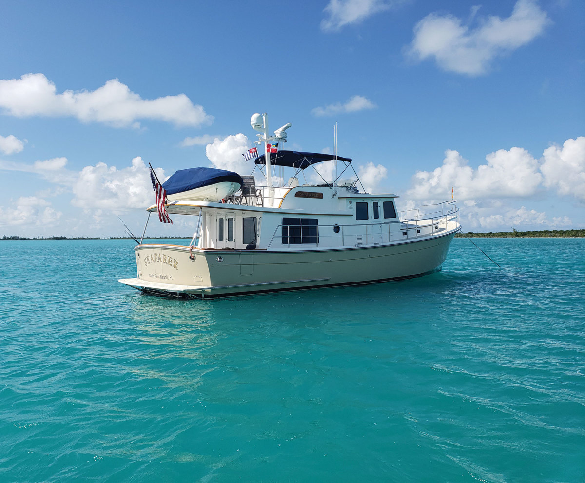 Brad and Karen Hurlburdt's Krogen Express 52, Seafarer, cruises efficiently between 15 and 18 knots.