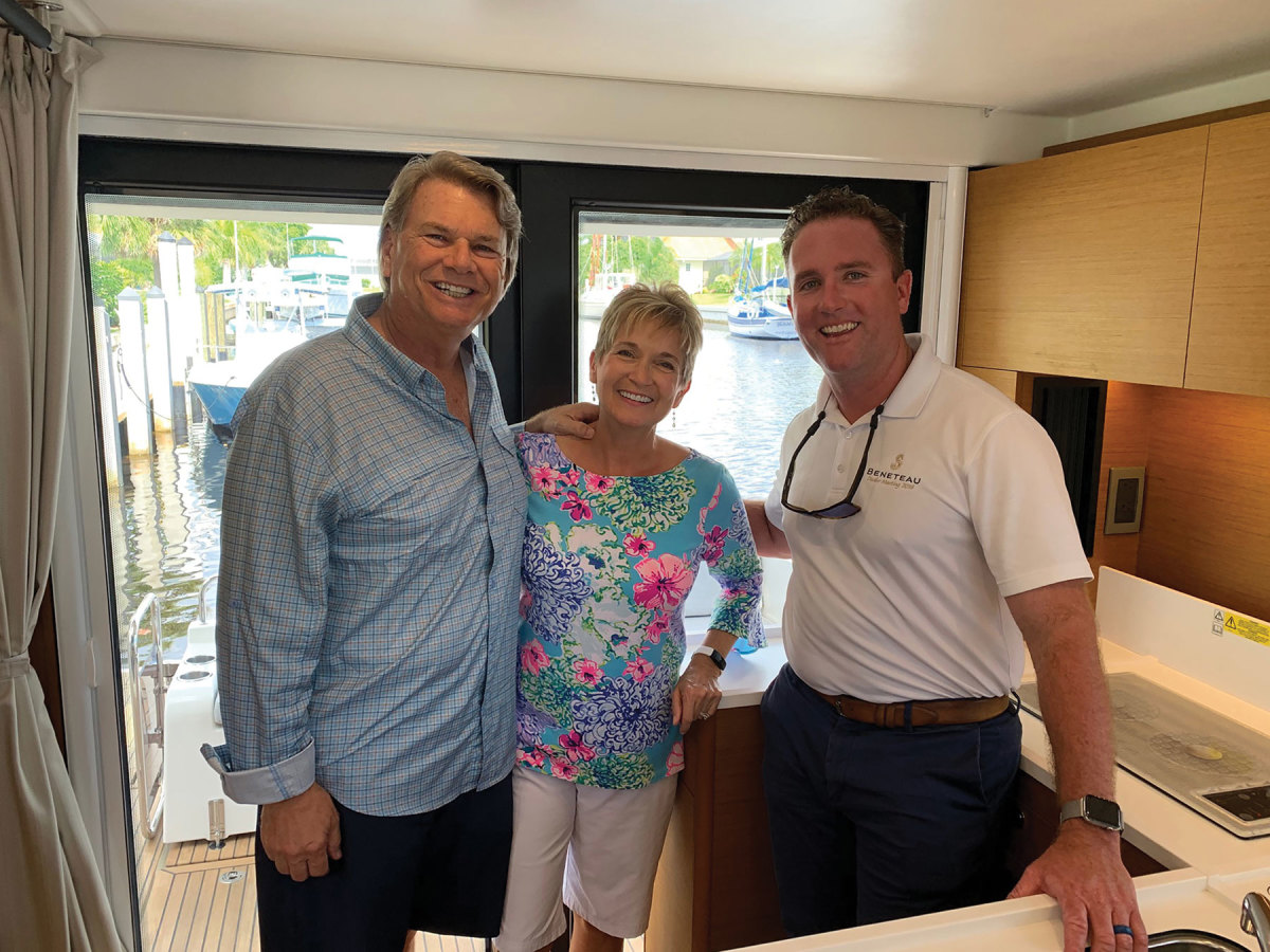 Rick and Brenda Brown with broker Alex Wilkes