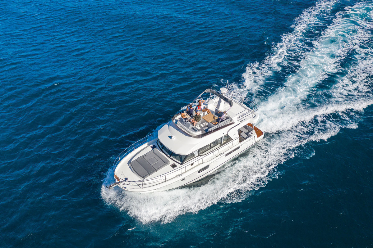 The Beneteau Swift Trawler 41 has a 24-knot top end.