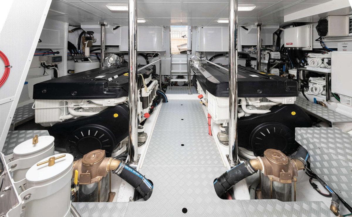 Volvo Penta D13s in the engine room