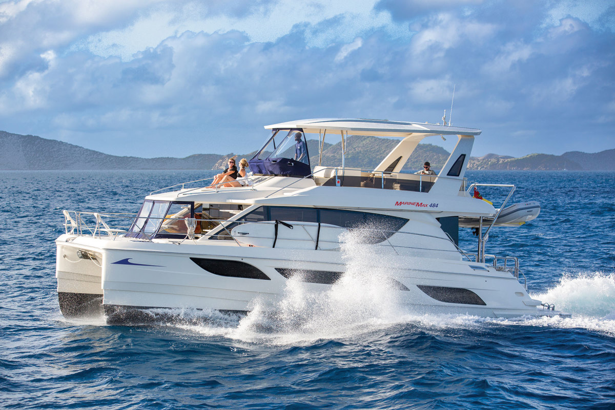 During the shutdown, MarineMax Vacations did maintenance on its fleet of powercats to get the boats in shape for the peak season.